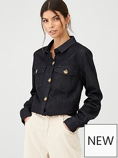 v-by-very-flap-pocket-denim-shirt-black
