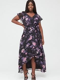 v-by-very-curve-cape-sleeve-midi-dress-purple-floral