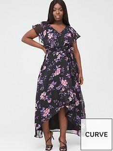 v-by-very-curve-cape-sleeve-midi-dress-purple-floral