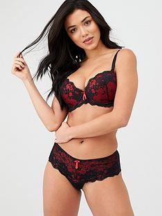 pour-moi-amour-padded-bra-black-scarlet