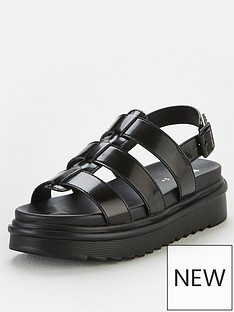 v-by-very-haddie-chunky-sole-patent-sandals-black