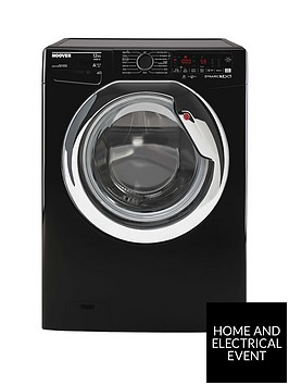 hoover-dwoa412ahc8b-80-12kg-load-1400-rpm-wifi-washing-machine-black-with-chrome-door