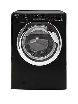 Hoover Dwoa412Ahc8B-80 12Kg Load, 1400 Rpm, Wifi Washing Machine - Black With Chrome Door