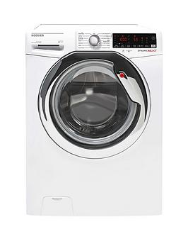 Hoover Dxoa410C3W 10Kg Load, 1400 Spin Speed Wi-Fi Washing Machine - White With Chrome Door
