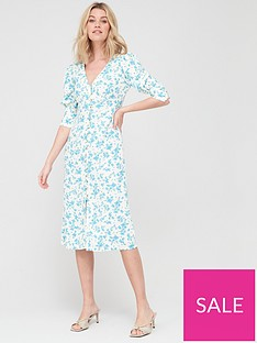 v-by-very-linen-v-neck-button-through-midi-printnbsp