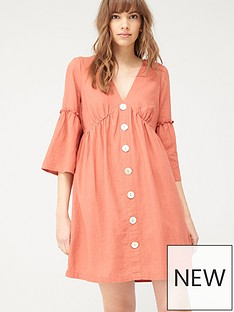 v-by-very-linen-button-through-tunic-red