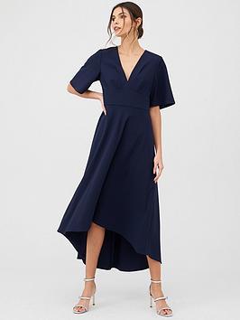 v-by-very-short-sleeve-prom-dress-navy
