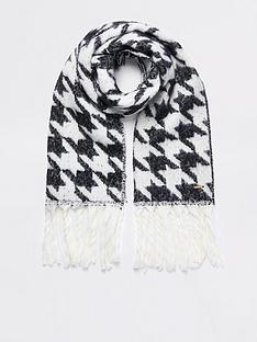 river-island-dogtooth-print-scarf