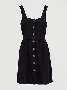 v-by-very-button-through-mini-linen-pinny-dress