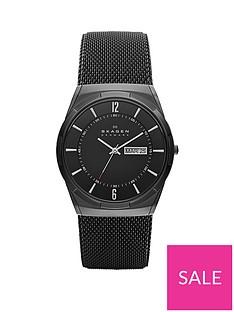 skagen-skagen-black-daydate-dial-black-leather-strap-mens-watch