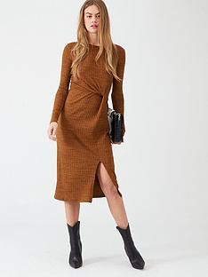 river-island-river-island-twist-front-midi-dress--tobacco