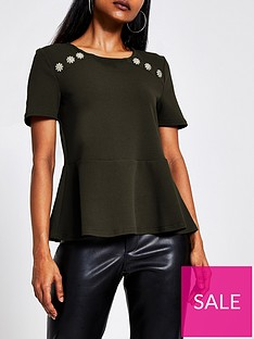 ri-petite-ri-petite-button-detail-peplum-hem-top--dark-green