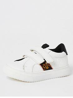 river-island-mini-mini-boys-embossed-velcro-trainers-white