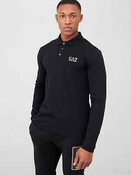 ea7-emporio-armani-core-id-logo-long-sleeve-polo-shirt-black