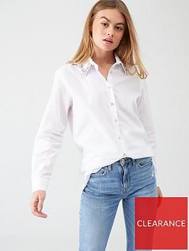 river-island-river-island-embellished-collar-shirt-white