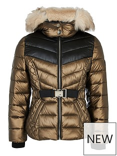 river-island-girls-faux-fur-hooded-padded-coat-bronze