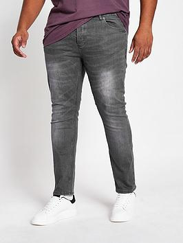 river-island-big-and-tall-grey-sid-skinny-jeans
