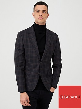 river-island-navy-check-skinny-fit-suit-jacket