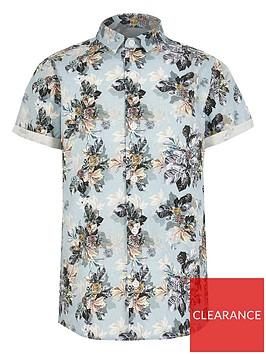 river-island-boys-floral-short-sleeve-shirt-blue