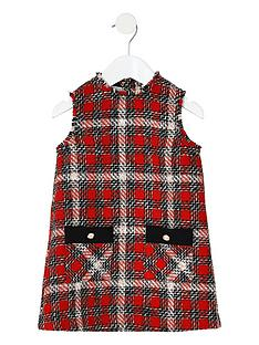 river-island-mini-mini-girls-boucle-check-pinafore-dress-red