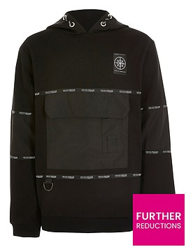 river-island-boys-active-oversized-pocket-hoodie-black
