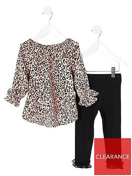 river-island-mini-mini-girls-leopard-print-blouse-and-legging-set-pinkblack