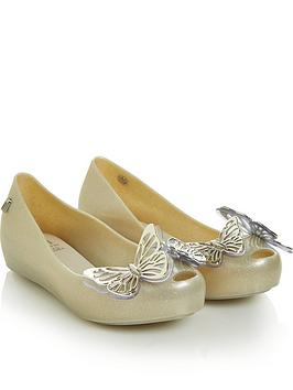 mini-melissa-girls-ultragirl-butterfly-shoes-gold
