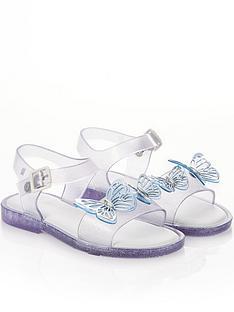mini-melissa-girls-mar-butterfly-jelly-sandal-clear