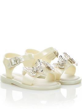 mini-melissa-mini-girls-marnbspbutterfly-jellynbspsandals-cream