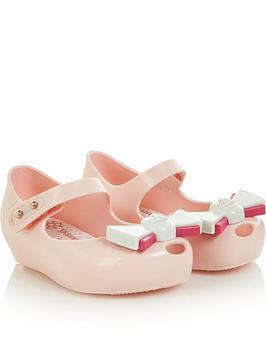 mini-melissa-mini-girls-vivienne-westwoodnbspultragirl-orb-bow-jelly-shoes-pink
