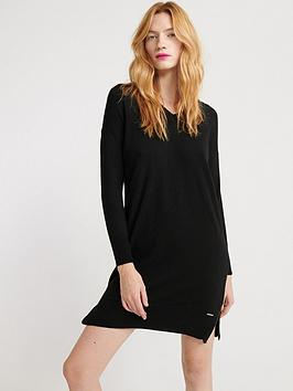 superdry-jayden-luxe-knit-dress-black