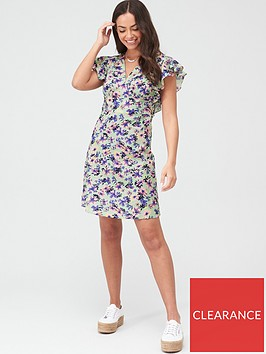 v-by-very-cotton-frill-sleeve-mini-dress-green-floral