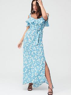 v-by-very-cold-shoulder-cotton-maxi-dress-blue-floral