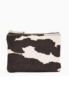 topshop-pony-print-zip-top-purse-mono