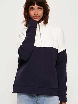 superdry-ana-half-zip-sweatshirt-navy