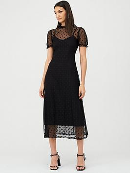 v-by-very-spot-mesh-midi-dress-black