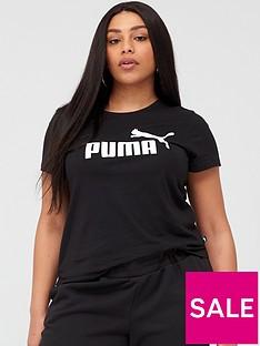 puma-essentialnbsplogo-t-shirtnbspplus-black