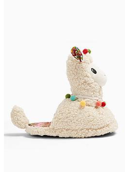 topshop-llama-slippers-cream