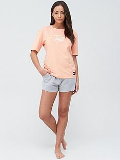 tommy-hilfiger-short-sleeve-logo-pj-top-orange