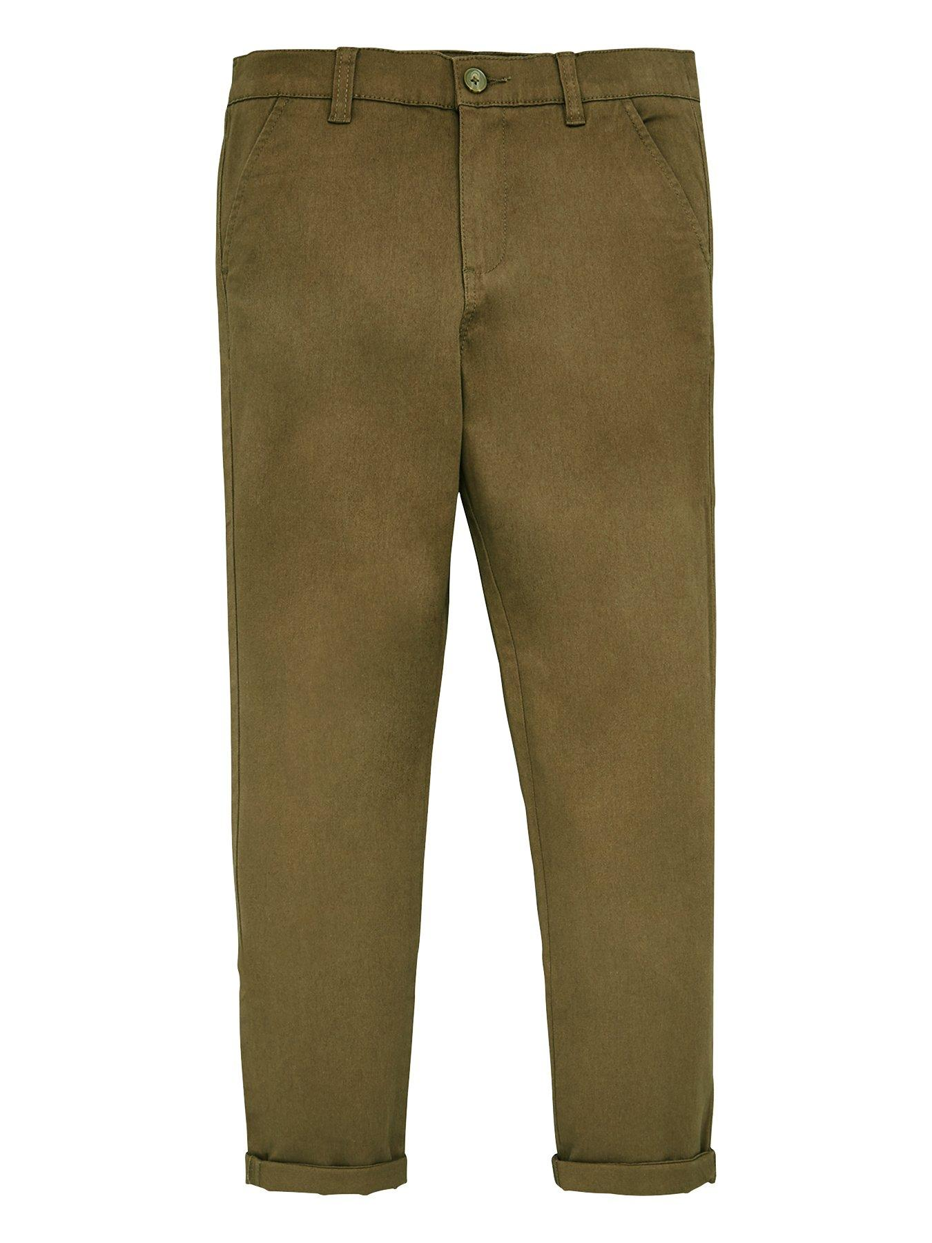 NEW Attire Designer Boys Multi-Pocket Belted Cotton Cargo Utility Shorts 2-5yrs
