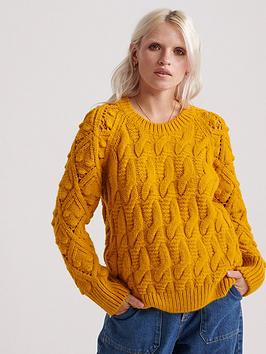 superdry-sophie-ann-cable-knitted-jumper-ochre