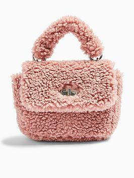 topshop-cosy-borg-grab-bag-pink