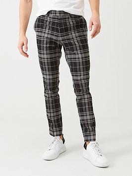 river-island-mono-skinny-crop-tartan-trouser