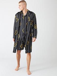 river-island-black-rvr-print-satin-twinning-dressing-gown