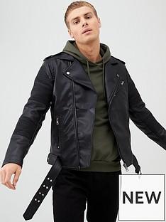 river-island-black-faux-leather-belted-biker-jacket