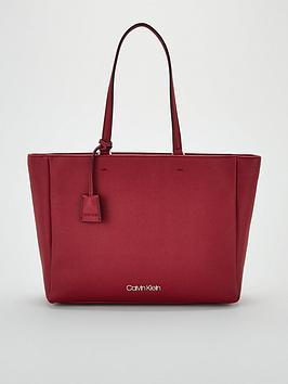 calvin-klein-worked-shopper-bag-red