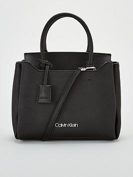 calvin-klein-worked-small-tote-bag-black