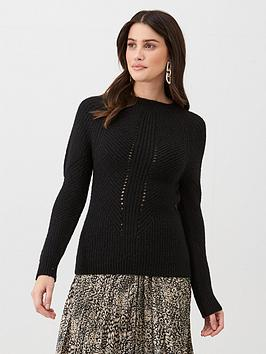 v-by-very-stitch-detail-knitted-jumper-black