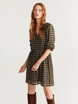 mango-check-dress
