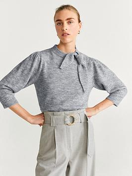 mango-bow-neck-jumper